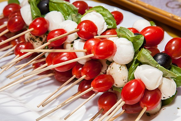 Mini Caprese Salad Skewer