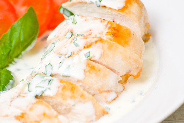 Chicken Breast in White Wine Sauce