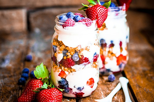 Three Berry Granola Parfait